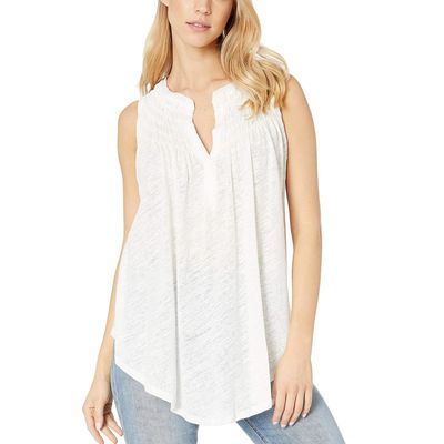 Free People - Free People Ivory New To Town Tank Top
