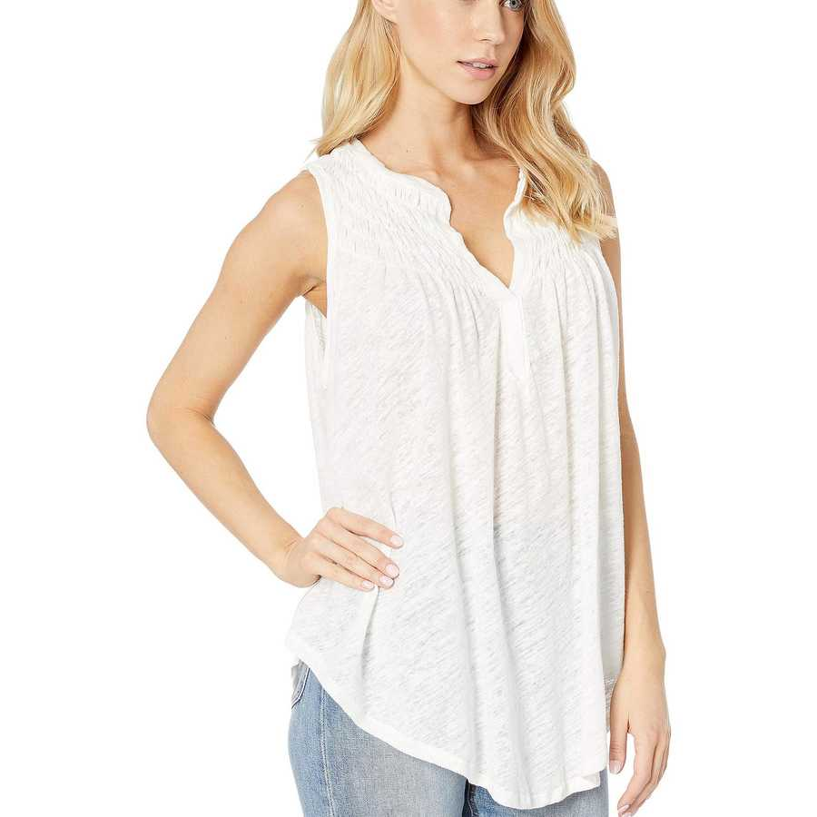 Free People Ivory New To Town Tank Top