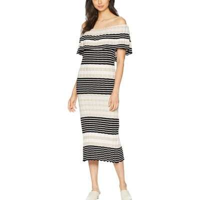Free People - Free People Ivory Off Duty Knit Maxi