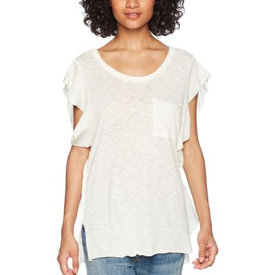 Free People - Free People Ivory So Easy Tee