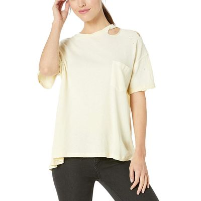 Free People - Free People Lemon Light Lucky Tee