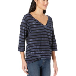 Free People Navy Head İn The Clouds Stripe - Thumbnail