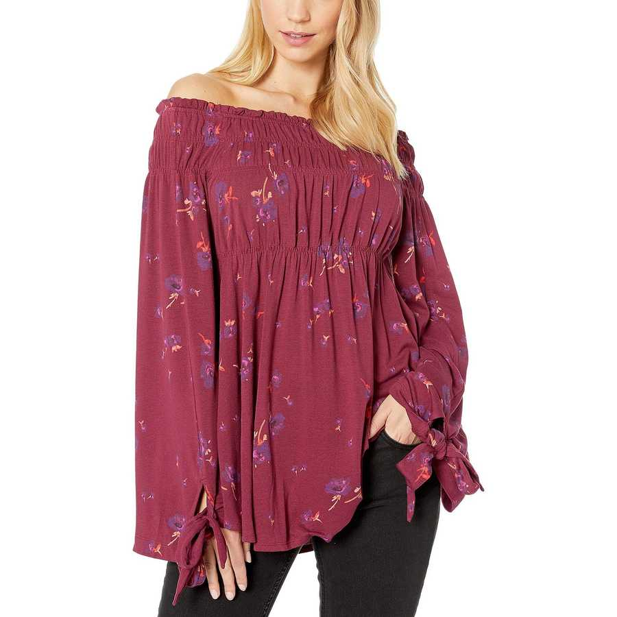 Free People Raspberry Bonjour Tunic
