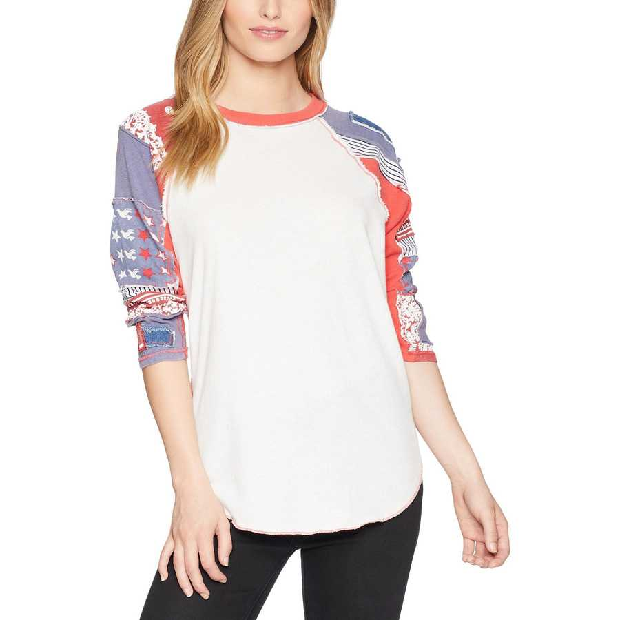 Free People Red Bright Star Tee
