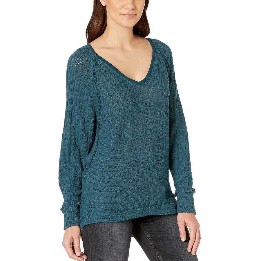 Free People Turquoise Thien'S Hacci T-Shirt