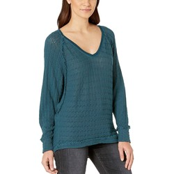 Free People Turquoise Thien'S Hacci T-Shirt - Thumbnail