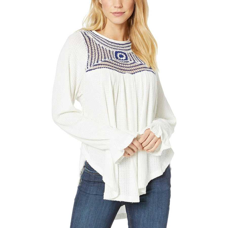 Free People White Soul Mate Top