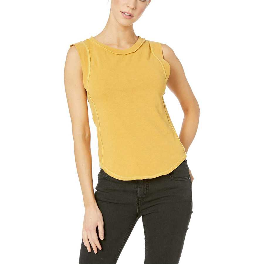 Free People Yellow Go To Tank