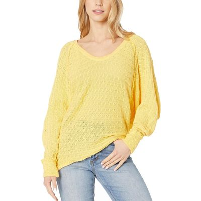Free People - Free People Yellow Thien'S Hacci T-Shirt