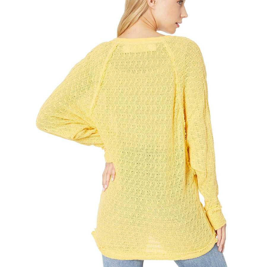 Free People Yellow Thien'S Hacci T-Shirt