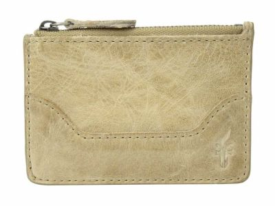 Frye - Frye Sand Antique Pull Up Melissa Key Card Coin Card Case