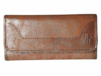 Frye - Frye Silver Multi Distressed Metallic Melissa Trifold Wallet