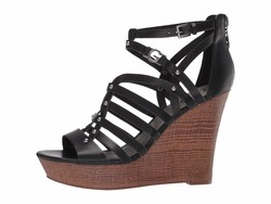 G By Guess Women Black Dezzie Heeled Sandals - Thumbnail