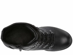 G By Guess Women Black Galls Lace Up Boots - Thumbnail