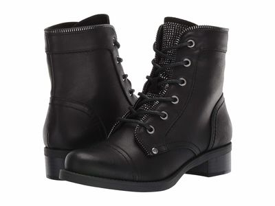 G By Guess - G By Guess Women Black Martel Lace Up Boots