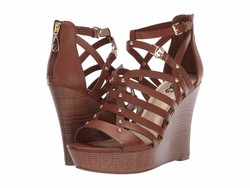 G By Guess Women Burnished Calf Rio Maple Dezzie Heeled Sandals - Thumbnail