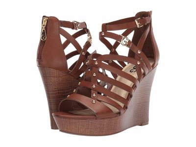G By Guess - G By Guess Women Burnished Calf Rio Maple Dezzie Heeled Sandals
