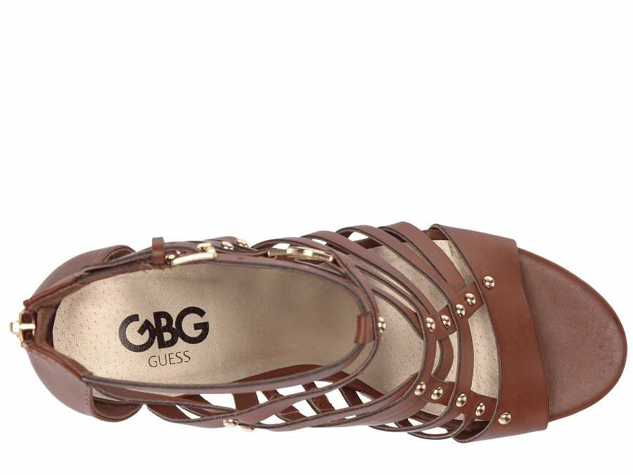 G By Guess Women Burnished Calf Rio Maple Dezzie Heeled Sandals
