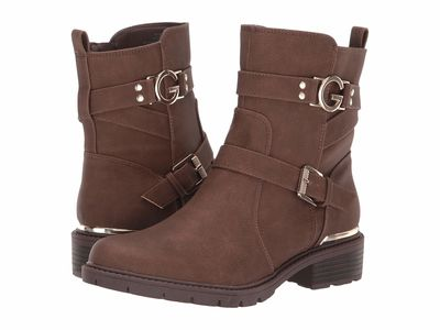 G By Guess - G By Guess Women Dark Brown Tobey Ankle Bootsbooties
