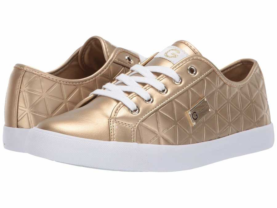 G By Guess Women Gold Oking Lifestyle Sneakers