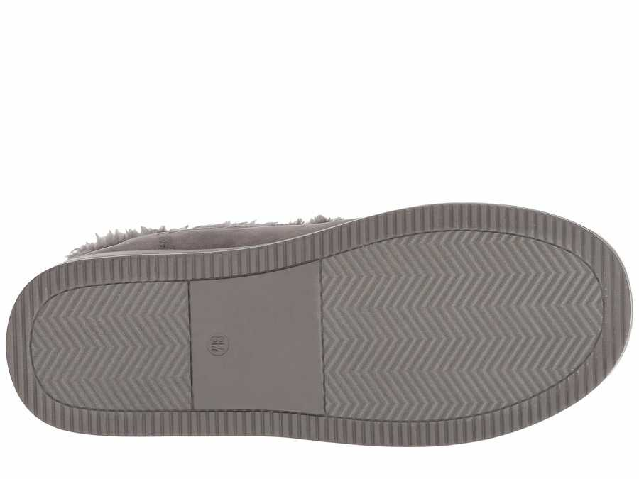 G By Guess Women Grey Fabric Babez Shearling Style Boots