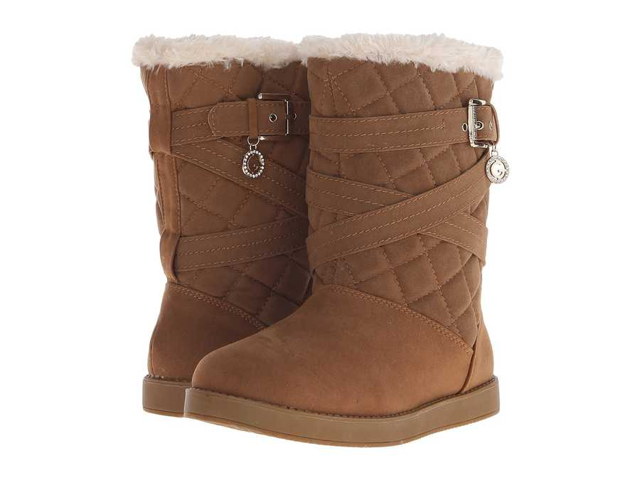 G By Guess Women Honey Babez Shearling Style Boots