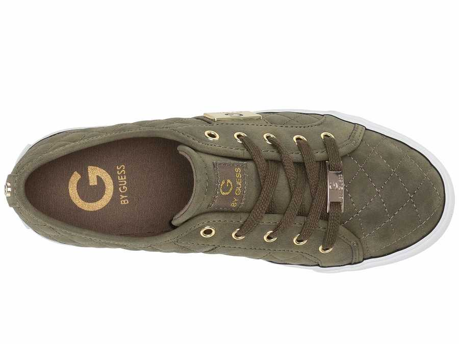 G By Guess Women Olive Backer Lifestyle Sneakers