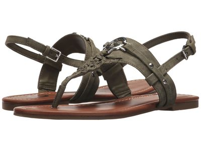 G By Guess - G By Guess Women Olive Lemmon Flat Sandals