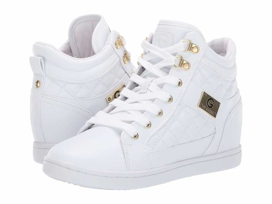 G By Guess Women White Dayna Lifestyle Sneakers