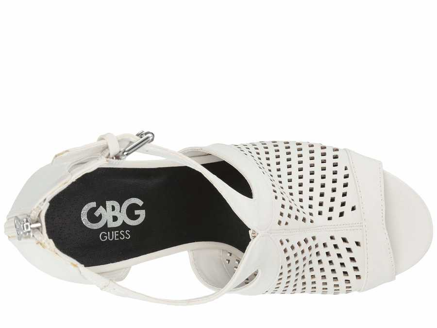 G By Guess Women White Shelli Heeled Sandals