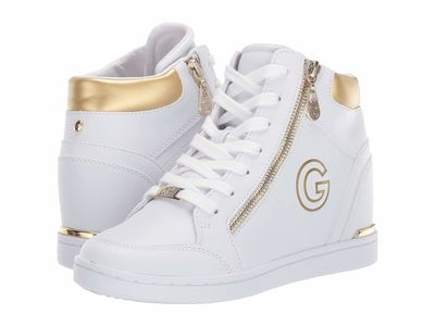 G By Guess - G By Guess Women White/Oro Dillin Lifestyle Sneakers