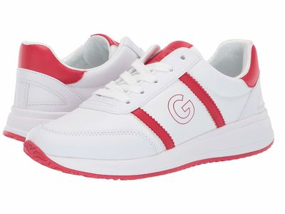 G By Guess - G By Guess Women White/Red Ryce Lifestyle Sneakers