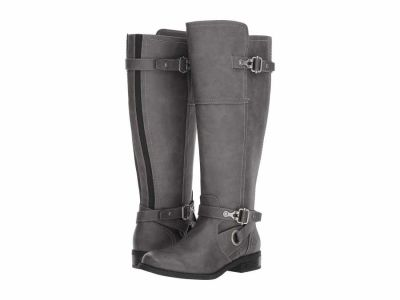 Guess - G by GUESS Women's Grey Harvest Wide Calf Knee High Boots