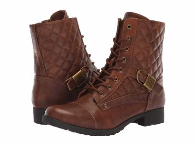 Guess - G by GUESS Women's Luggage Byson Lace Up Boots