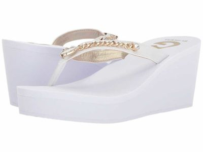Guess - G by GUESS Women's White Saleen Sandals