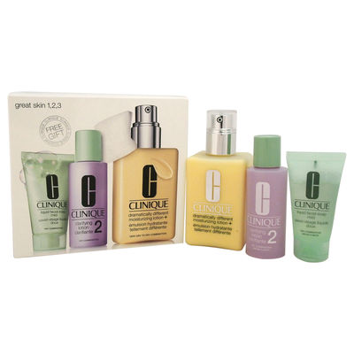 Clinique - Great Skin 3-Step Skin Care System - Dry Combination Skin Type 3Pc Kit