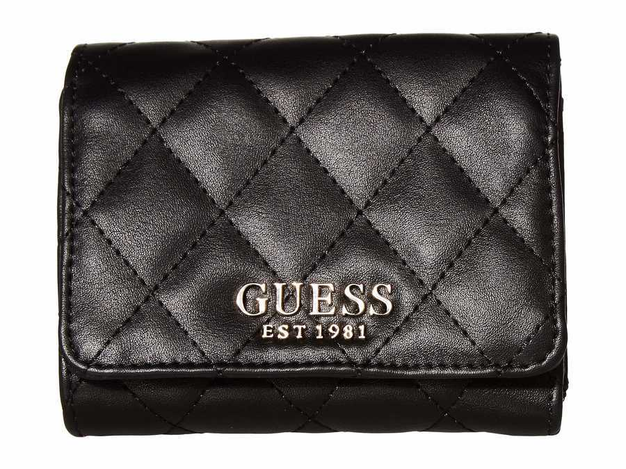 Guess Black 1 Sweet Candy Slg Small Trifold Tri-Fold Wallet