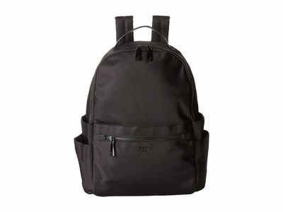 Guess - Guess Black Avila Guess Strap Tote Backpack