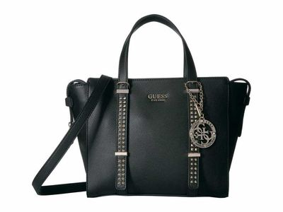 Guess - Guess Black Eileen Small Status Satchel Satchel Handbag