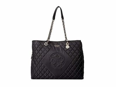 Guess - Guess Black Sweet Candy Large Carryall Shoulder Bag
