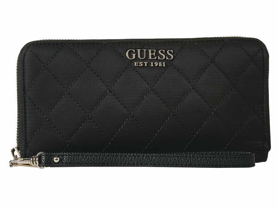 Guess Black Sweet Candy Slg Large Zip Around Checkbook Wallet