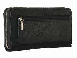 Guess Black Sweet Candy Slg Large Zip Around Checkbook Wallet - Thumbnail