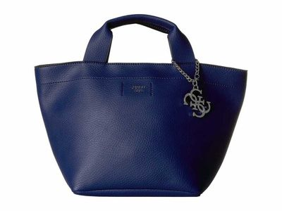 Guess - Guess Blue Trudy Small Carryall Tote Handbag