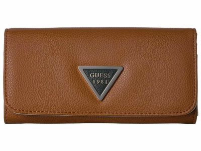 Guess - Guess Cognac Multi Lauri Slg Large Flap Organizer Checkbook Wallet