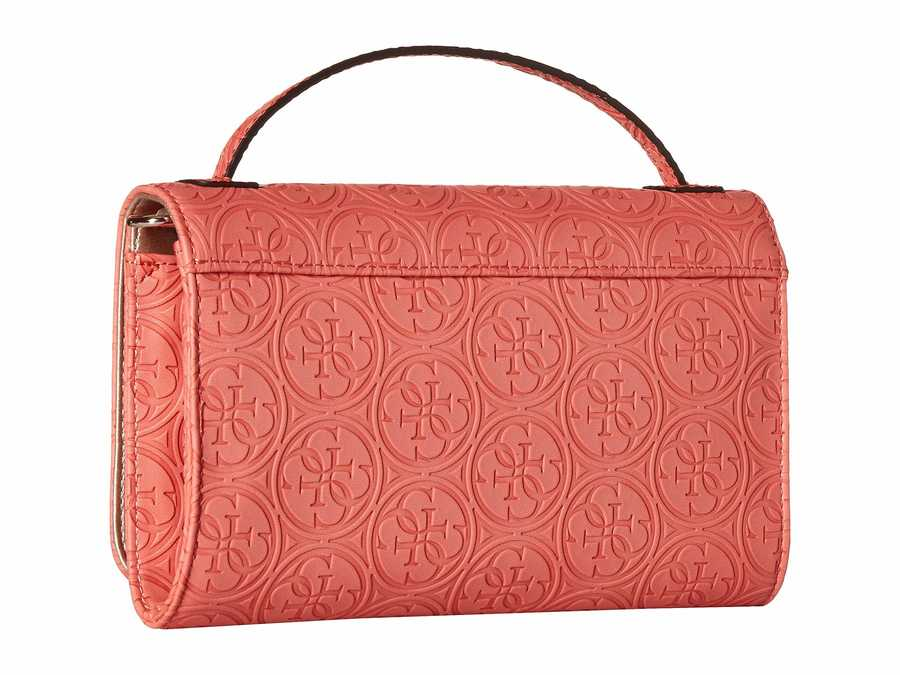 Guess Coral Kamryn Wallet On A String Cross Body Bag