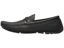 Guess Men Black Adlers Loafers - Thumbnail