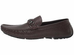 Guess Men Brown Multi Adlers Loafers - Thumbnail