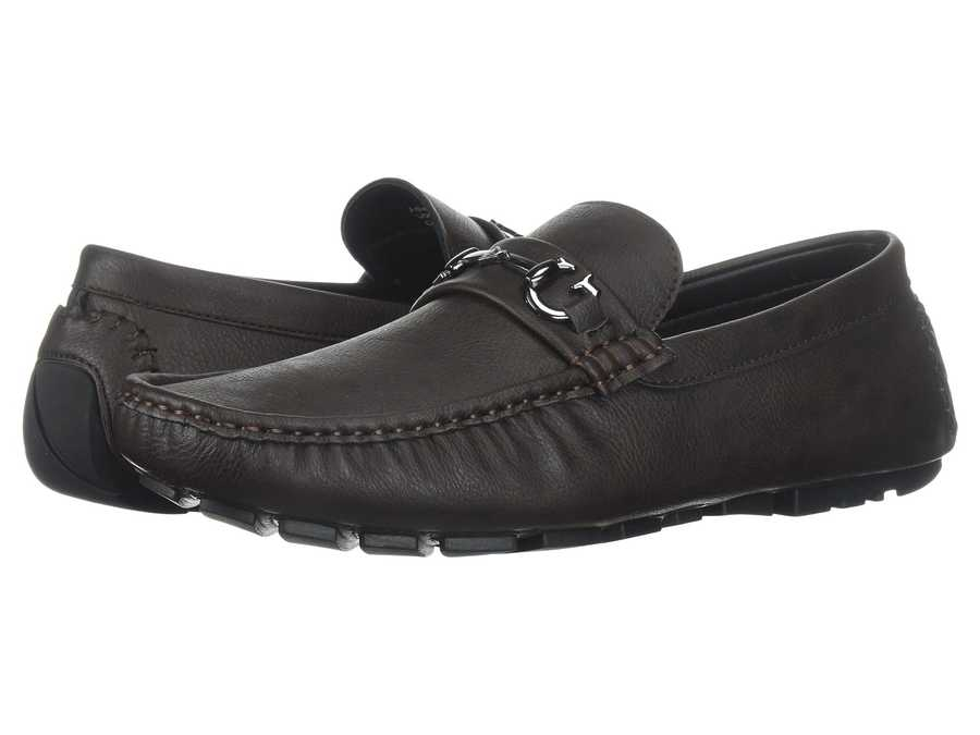Guess Men Brown Synthetic Adlers Loafers