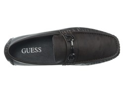 Guess Men Brown Synthetic Adlers Loafers - Thumbnail