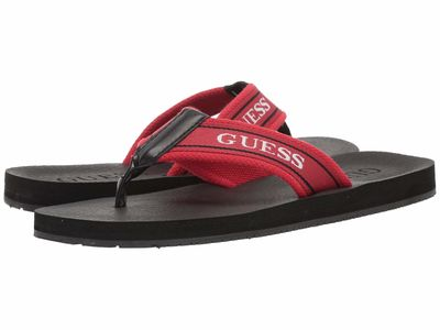 Guess - Guess Men Red/Black/White Doro Flip Flops